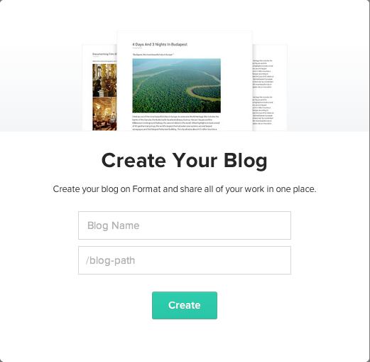 Create a blog - Format