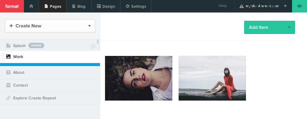 The Pages panel is used to create a new page for adding and organizing your content